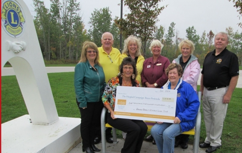 Sauble Beach & District Lions Club donated proceeds from the 50/50 in the amount of $1,598.89