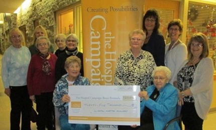 Wiarton Hospital Auxiliary invests $25,000 to the Hospital Campaign