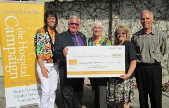 Town of South Bruce Peninsula made a commitment to the Hospital Campaign of $300,000