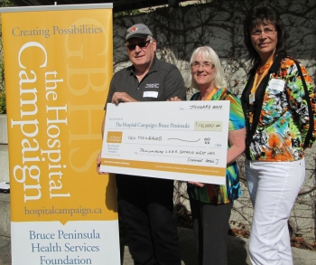 Orange Association pledge $10,000 for the Hospital Campaign